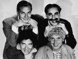 The Marx Brothers, Top Zeppo Marx, Groucho Marx, Bottom Chico Marx, Harpo Marx, Early 1930s Photo