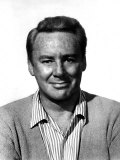 Van Johnson, Wearing a Sweater and Striped Shirt Photo