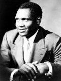 American Actor, Athlete, Singer, and Civil Rights Activist Paul Robeson, 1898-1976, c.1940 Prints