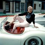 Anita Ekberg, on Her Jaguar, Late 1950s Poster