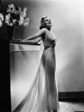 Saratoga, Jean Harlow, in a Gown by Dolly Tree, 1937 Photo