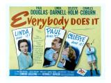 Everybody Does It, Linda Darnell, Paul Douglas, Celeste Holm, 1949 Print