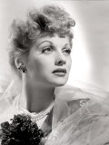 Lucille Ball Portrait with Gauze, 1940's Photo