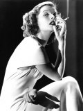 Katharine Hepburn Smoking, 1930s Photo