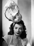 Jane Greer, Modeling an Enterprising Easter Bonnet, 1947 Photo