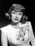 Eleanor Parker Wearing an Embroidered Dress, Late 1940's Print