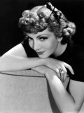Portrait of Claudette Colbert, 1936 Print