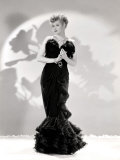 Lucille Ball Models a Lovely Black Gown, Publicity Still, 1940's Prints