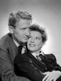 Without Love, Spencer Tracy, Katharine Hepburn, 1945 Fotografía