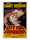 City for Conquest, Ann Sheridan, James Cagney, 1940 Print