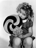 Bright Eyes, Shirley Temple Eating a Big Lollipop, 1934 Photo