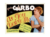 As You Desire Me, Greta Garbo, 1932 Poster