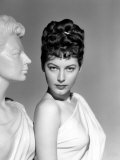 One Touch of Venus, Ava Gardner, Portrait with Greek Statue, 1948 Photo