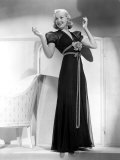 Betty Grable in Black Chiffon Dinner Dress, 1938 Poster