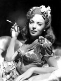 Ida Lupino, Portrait of Her Smoking Poster