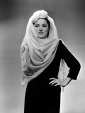 Eleanor Parker Wearing a Turban and Scarf Treatment Made of Chiffon, Designed by Leah Barnes, 1943 Prints
