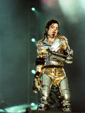 Michael Jackson on Stage in Sheffield, July 1997 Fotografie-Druck