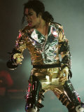 Michael Jackson on Stage in Prague, September 8, 1996 Lámina fotográfica