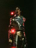 Michael Jackson Performing on Stage in Sheffield, July 10, 1997 Lámina fotográfica