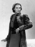 Vivien Leigh in a Gray Lamb Coat, 1937 Prints