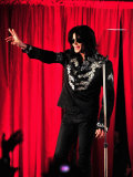 Michael Jackson at the O2 Arena in London, Where He Unveiled Plans for His Comeback, March 5, 2009 Lámina fotográfica