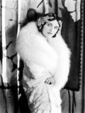 Pola Negri Wearing a White Knee-Length Fur Llate, Late 1920s Photo
