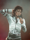 Michael Jackson Performing on Stage at Wembley During the Bad Concert Tour, July 14, 1997 Reproduction photographique