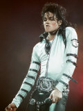 Michael Jackson Performing on Stage at Wembley During the Bad Concert Tour, July 14, 1997 Stampa fotografica