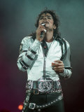 Michael Jackson Performing on Stage at Wembley During the Bad Concert Tour, July 14, 1997 Fotodruck