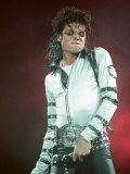 Michael Jackson Performing on Stage at Wembley During the Bad Concert Tour, July 14, 1997 Photographie