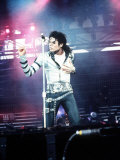 Michael Jackson in Concert at Cardiff Arms Park, 26th July 1988 Photographie