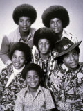 The Jacksons Pop Group with Michael Jackson from 1972 Fotografie-Druck