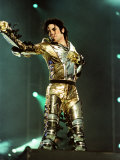 Michael Jackson on Stage in Sheffield, July 1997 Fotografisk trykk