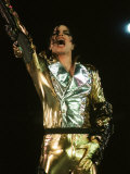 Michael Jackson on Stage in Prague, September 8, 1996 Fotografisk trykk