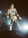 Michael Jackson on Stage in Prague, September 8, 1996 Fotoprint