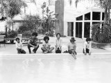 The Jackson Five Poolside at Home in Los Angeles, February 23, 1973 Fotografisk tryk
