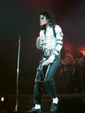 Michael Jackson in Concert at Wembley, July 22, 1988 Papier Photo