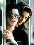 Michael Jackson Wearing Dark Glasses with Lisa Marie Presley Photographic Print