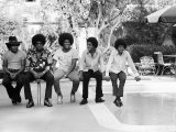 The Jackson Five at Home in Los Angeles, February 23, 1973 Fotografisk tryk