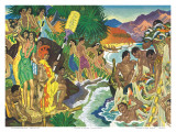 Festival of the Sea, Traditional Hawaiian Celebration Prints by Eugene Savage
