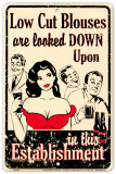 Low Cut Blouses Tin Sign
