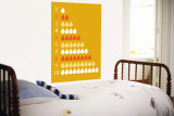 Orange Counting Pears Wall Mural by Avalisa