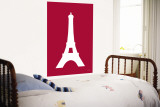 Red Eiffel Tower Wall Mural by  Avalisa