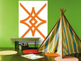 Orange Diamond Wall Mural by Avalisa