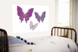 Purple Butterfly Wall Mural by  Avalisa