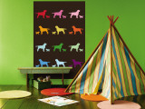 Brown Rainbow Labs Wall Mural by Avalisa 