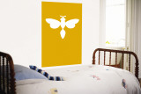 Orange Firefly Wall Mural by  Avalisa
