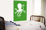 Green Octopus Wall Mural by Avalisa 