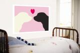 Pink Puppy Love reproduction murale géante par  Avalisa
