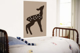 Brown Fawn Wall Mural by  Avalisa